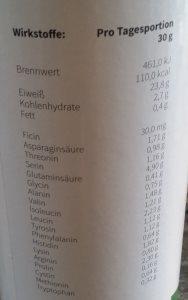 natur protein plus inhaltsstoffe